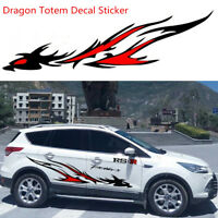 Pair Car Styling Flame Dragon Totem Personalized Body Side Vinyl Graphic Sticker