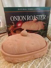Boston Warehouse Terra Cotta Onion Roaster Open Box Unused