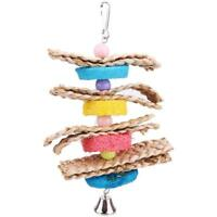 Parrot Toys Pet Bird Bites Climb Chew Toys Parakeet Budgie Hanging Swing hv2n