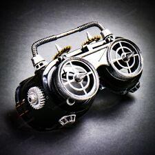 Steampunk Goggles Flip Up Lens Punk Party Accessory EyesWear Unisex Black Silver