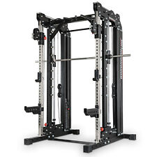 BARBARIAN Smith Cable Rack Weight Stack // Multi Gym Machine Cross Trainer Gym