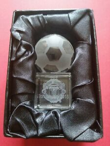 Manchester United v Liverpool, Glass Paperweight.