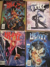 HEAVY METAL : BUNDLE of 4 DIFFERENT ISSUES FROM the 90's