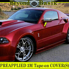 2010 2011 2012 2013 2014 FORD MUSTANG Triple Chrome Mirror Covers Overlays Trims