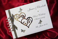 A5  WEDDING / SILVER ANNIVERSARY GUEST BOOK / ALBUM PERSONALISED 1509SBK