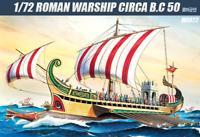 Academy 1/72 Roman Warship Circa B.C 50 Plastic Hobby Scale Model Kits #MA022