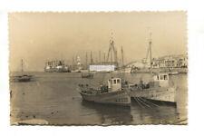 Gandia - Puerto de Gandia - c1940's Spain real photo postcard