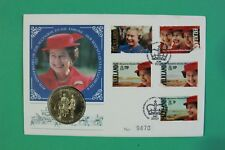1992 Falkland Islands Coin cover 40th Anniversary Accession SNo42973