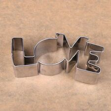 Cute Confectionery Forms Cutter Pastry LOVE Letter Baking Stainless Steel Mold