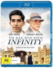 The Man Who Knew Infinity (Blu-ray, 2016) DEV PATEL JEREMY IRONS MOVIE