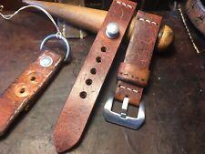 Handmade 20mm Swiss Army leather Ammo watch strap.