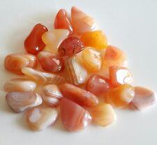 36-50 pcs Banded Carnelian Tumbled 1/2 lb bulk stones
