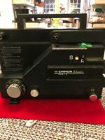 CHINON WHISPER DUAL 727 8mm Variable Speed Movie Projector Gently Used