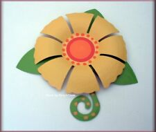 YELLOW DIMENSIONAL FLOWER METAL MAGNET EMBELLISH YOUR STORY FREE U.S. SHIPPING