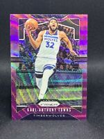2019-20 Panini Prizm Prizms Purple Wave #161 Karl-Anthony Towns T-Wolves
