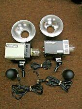 Photogenic PowerLight PL06A flash 2 units with cords & reflectors monolites