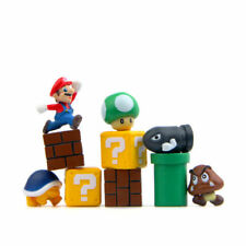 10pcs Super Mario Bros Figures Cute Mini Toys Cake Toppers Kids Gift 2cm