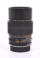 Ex Leica APO-MACRO-ELMARIT-R 100mm f/2.8 E60 ROM w/Original Rear Cap
