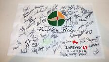 LPGA Signed Golf Flag Pumpkin Ridge multiple autographs