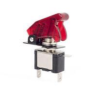 12V/20A Auto KFZ Schalter Kippschalter LED Beleuchtet EIN/AUS Schutz kappe Rot