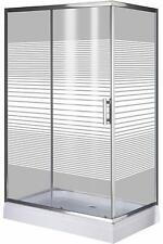 Box cabina doccia Brixo Fenicottero 120x80xh185 vetro serigrafato spessore 5 mm