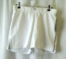 WOMEN'S Majestic SOFTBALL BASEBALL WHITE SHORTS Size L MSRP $30 New With Tags