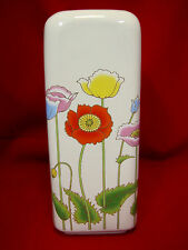 Vase Ceramic Large Springtime Easter Flowers Tulip Poppies Design Multi Colors 1
