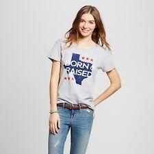 Women's Texas Born & Raised T-Shirt - Heather Gray (Juniors') (B2)
