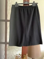 "SKIRT BY WEEKENDERS BLACK KNIT SIZE M ELASTICATED WAISTBAND L 23"" BACK VENT"