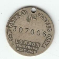 """Dogs Token London City T-W Tail Waggers Club """"Help My Pals"""" Silver Medal #35"""