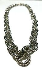 """100+ GRAMS JUDITH RIPKA STERLING SILVER CABLE CHAIN NECKLACE 20"""""""
