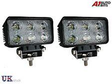 2 Pcs 18W LED DRL Luz de Trabajo Barco Offroad Camión lámparas de inundación SUV 4WD