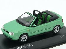 VW Golf cabriolet 1999 green metallic 1:43 MINICHAMPS 430 058335