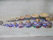 Wooden Matryoshka Doll 10 Piece Nesting Set Made in Russian Style