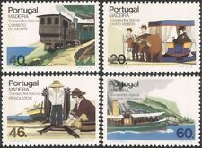 Madeira 1985 Train/Steam/Boats/Rail/Ferry/Oxen/Sledge/Transport 4v set (n36055a)