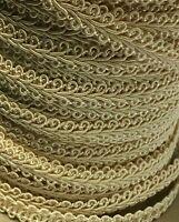 "French Gimp Rayon Braid Trim Ribbon 8mm 3/8"" Ivory 15 yds #BG84"