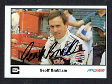 Geoff Brabham #18 signed autograph auto 1986 A&S Racing PPG Indy Trading Card
