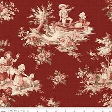Penny Rose Fabrics – Toile de Jouy Main Red C6130-Red
