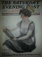 1919 Saturday Evening Post Cover ONLY Neysa McMein Victorian Woman