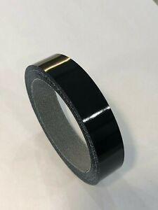 Black Gloss Edging Tape, 5m x 22mm, Pre-Glued Iron On!