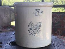 Antique Vintage 5 Gallon Crock Western Stoneware