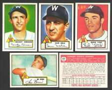 Topps Not Authenticated 1952 Season Baseball Cards