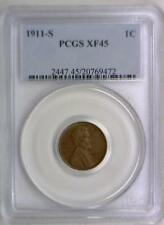 1911-S Lincoln Wheat Cent PCGS XF-45