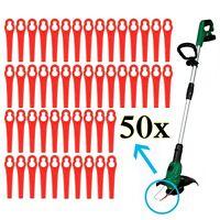 50 Kunststoffmesser Ersatzmesser / Messer /Nylon passt für Akku Rasentrimmer A++
