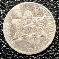 1859 Three Cent Piece Silver Trime 3c Better Grade #20210
