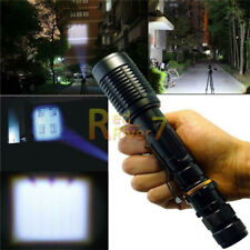 200000LM T6 LED USB Rechargeable 18650 Super Bright Zoomable Torch Flashlight