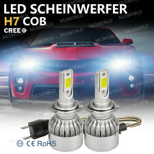 Pair Cree 72W H7 LED Lampade A Auto Fari Lampadine Headlight Kit 9000LM 6500K