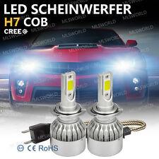 Pair Cree 72W H7 LED Lampade A Auto Fari Lampadine Headlight Kit 9000LM 6500K