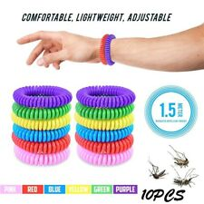10PCS Mosquito Repellent Bracelet  Anti Insect DEET Free Wrist Band Bug Repeller