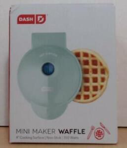 Dash Mini Waffle Maker DMW001AQ 350 Watts, Aqua